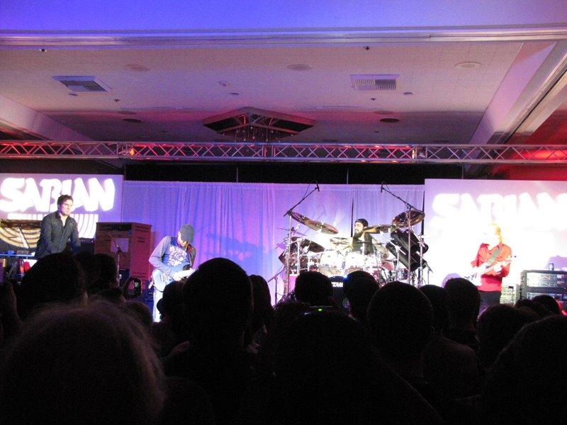 Billy Sheehan Tony MacAlpine Derek Sherinian Mike Portnoy Sabian Live NAMM 2012 ale koga